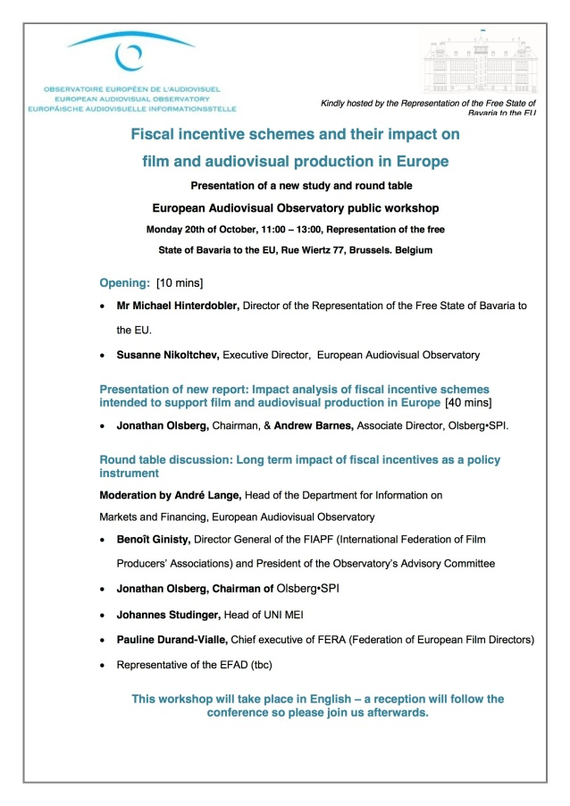Fiscal Incentives Conf 2014 programme